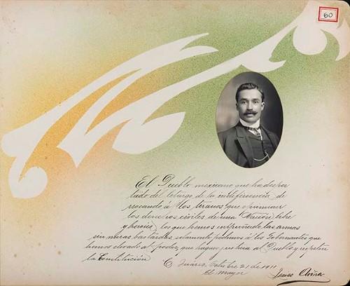 Imagen de Lámina del Mayor Isaías Aviña; para Francisco I. Madero (atribuido)