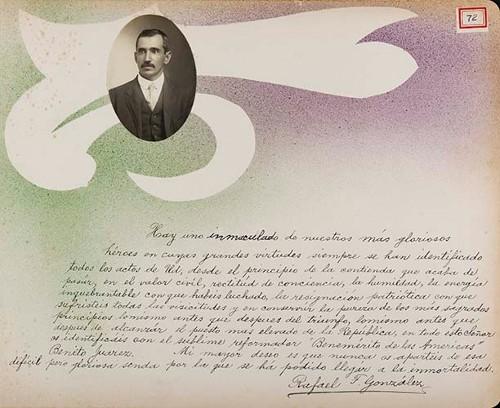 Imagen de Lámina de Rafael F. González; para Francisco I. Madero (atribuido)