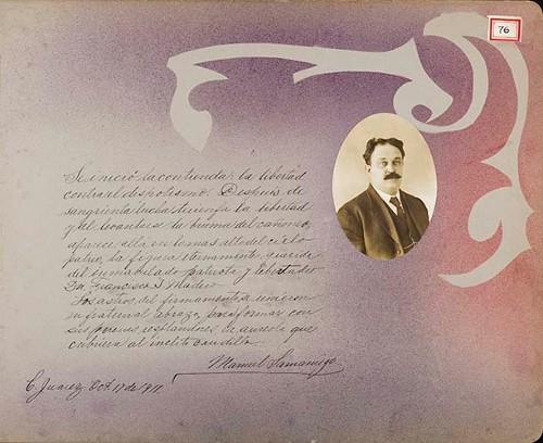 Imagen de Lámina de Manuel Samaniego; para Francisco I. Madero (atribuido)