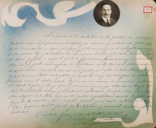 Imagen de Lámina de Doctor Teodoro López; para Francisco I. Madero (atribuido)