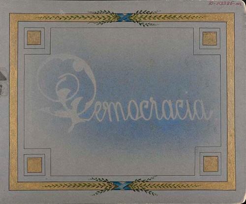 """Imagen de Portada: """"Democracia"""" (atribuido)"""