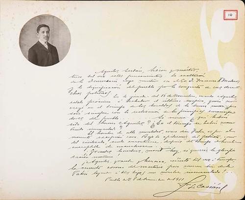 Imagen de Lámina del Dr. Francisco L. Casián; para Francisco I. Madero (atribuido)