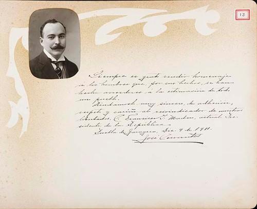 Imagen de Lámina del Dr. José Cervantes; para Francisco I. Madero (atribuido)