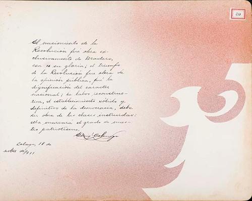Imagen de Lámina de [E.] Colunga; para Francisco I. Madero (atribuido)