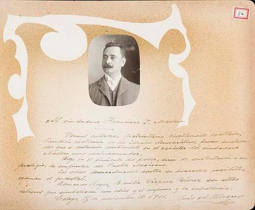 Imagen de Lámina de José A. Oliveros; para Francisco I. Madero (atribuido)