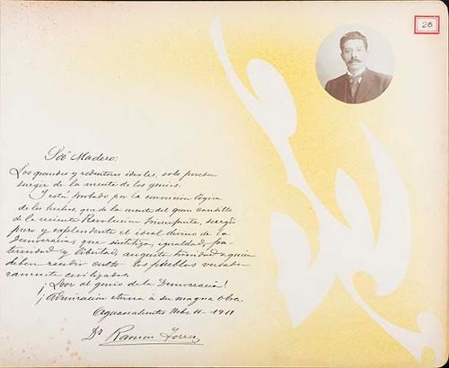 Imagen de Lámina del Dr. Ramón Torres; para Francisco I. Madero (atribuido)