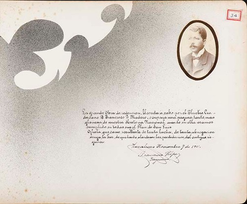 Imagen de Lámina de Ing. Francisco López; para Francisco I. Madero (atribuido)