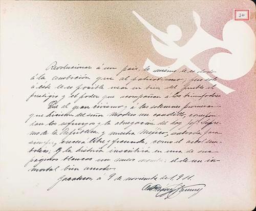 Imagen de Lámina de [A. Chávez Ramírez]; para Francisco I. Madero (atribuido)
