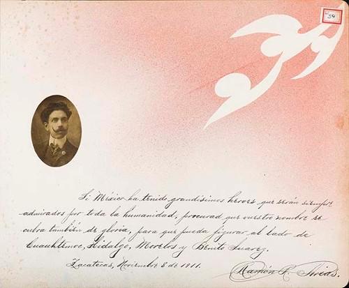 Imagen de Lámina de Ramón R. Arias; para Francisco I. Madero (atribuido)