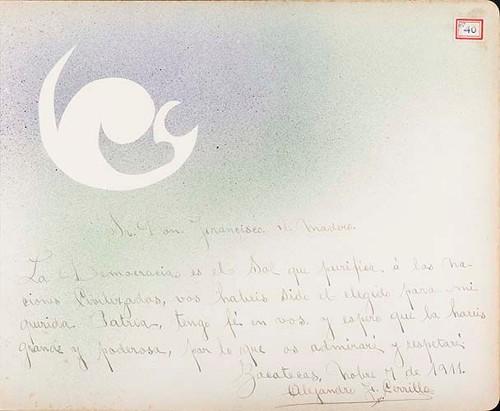 Imagen de Lámina de Alejandro J. Carrillo; para Francisco I. Madero (atribuido)