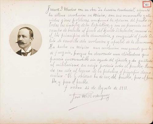 Imagen de Lámina del Dr. José M. Rodríguez; para Francisco I. Madero (atribuido)