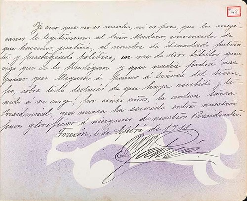 Imagen de Lámina de felicitación para Francisco I. Madero (título atribuido)