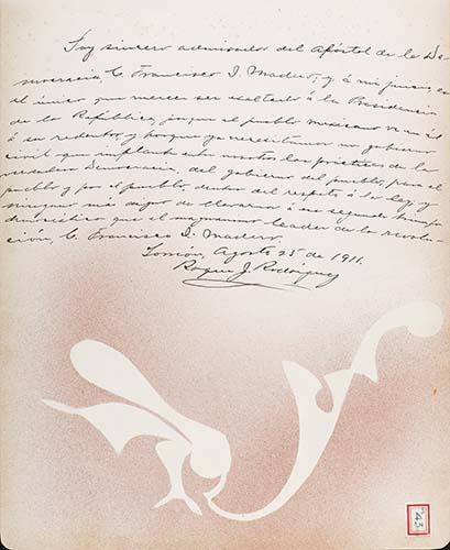 Imagen de Lámina del Lic. Roque J. Rodríguez; para Francisco I. Madero (atribuido)