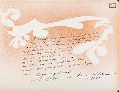 Imagen de Lámina de R. Aguirre y Campos; para Francisco I. Madero (atribuido)