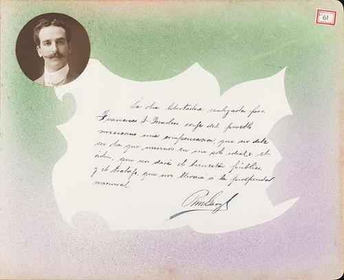 Imagen de Lámina de R. M. Garza; para Francisco I. Madero (atribuido)