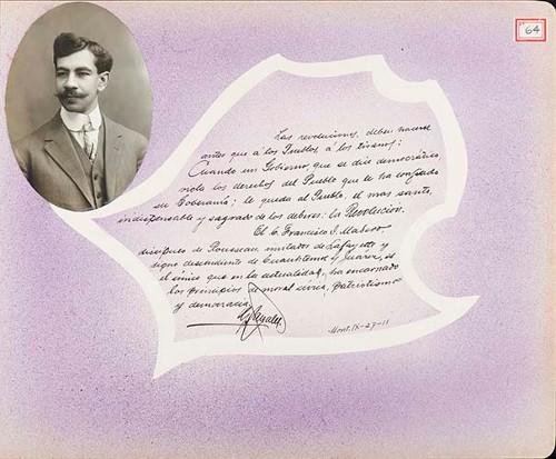 Imagen de Lámina de [C.] González; para Francisco I. Madero (atribuido)