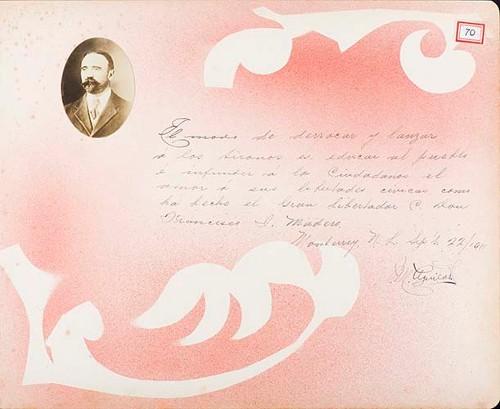 Imagen de Lámina de M. Aguilar; para Francisco I. Madero (título atribuido)