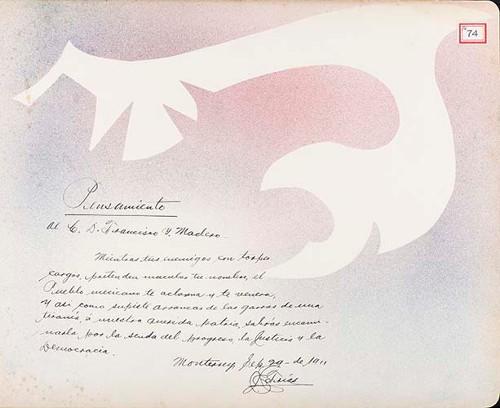 Imagen de Lámina de [J. Farías]; para Francisco I. Madero (atribuido)