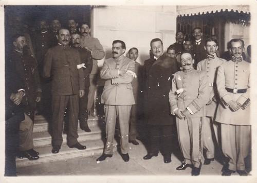 Imagen de Los generales de División. Álvaro Obregón, Pablo González y Benjamín Hill (atribuido)