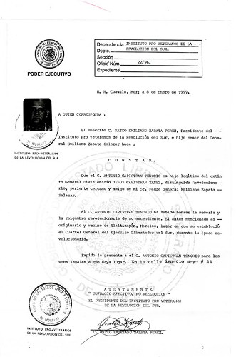 Imagen de Expediente de Capistrán Yáñez, Jesús