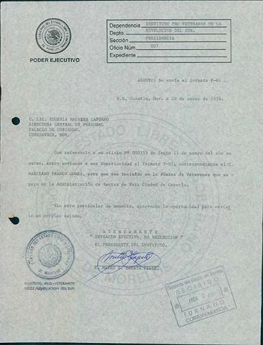 Imagen de Expediente de Franco Gómez, Marciano