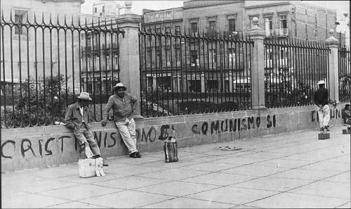 Imagen de Pinta a las afueras de la Catedral reivindicando el comunismo (atribuido)