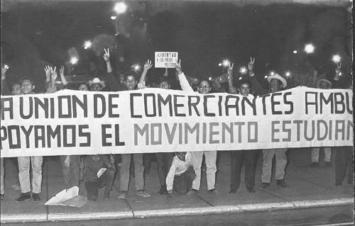 Imagen de La unión de comerciantes solidarizándose con el movimiento estudiantil (propio)
