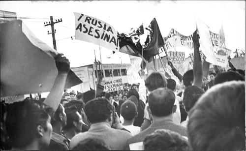 Imagen de Manifestación de la Escuela Libre de Derecho en contra de la invasión de la URSS a Checoslovaquia (propio)