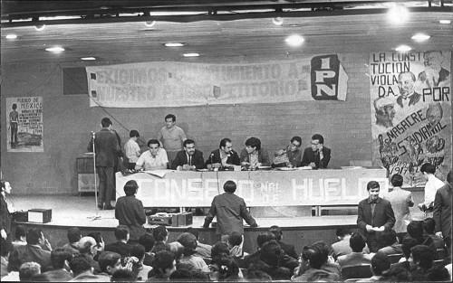 Imagen de Sesión del Consejo Nacional de Huelga (propio)