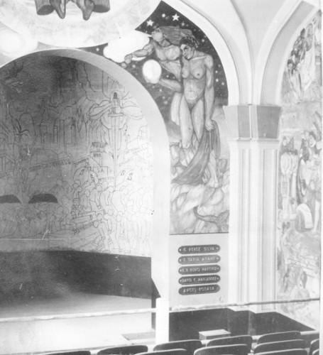 Imagen de Murales pintados al interior de la Casa del Agrarista (propio)