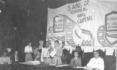 Imagen de Informe de la entrega de tierras durante los primeros tres años de gobierno del general Lázaro Cárdenas (propio)