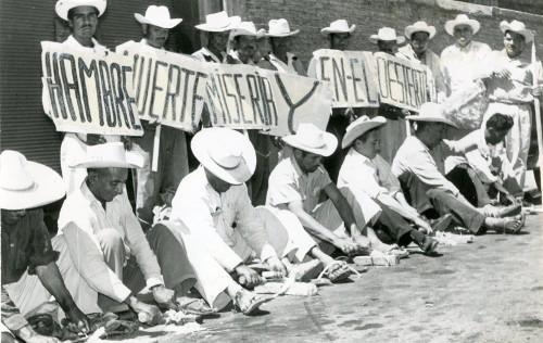 Imagen de Manifestación campesina denunciando la pobreza (propio)