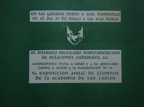 Imagen de Invitación a la 5a exposición anual de la Academia de San Carlos (atribuido)