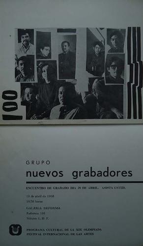 Imagen de Invitación al encuentro de grabado organizado por el grupo Nuevos Grabadores (atribuido)