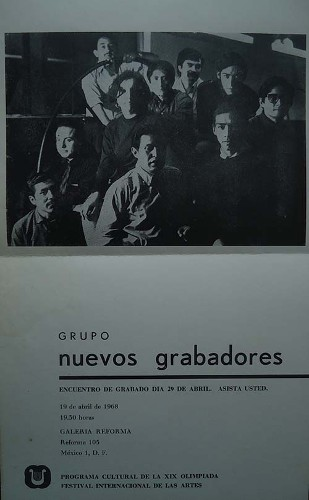Imagen de Invitación al encuentro de grabado organizado por el grupo Nuevos Grabadores. Versión 2 (atribuido)