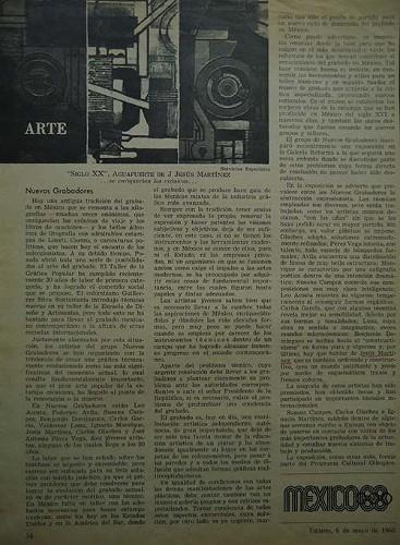 Imagen de Artículo sobre el grupo Nuevos Grabadores en la revista Tiempo (atribuido)