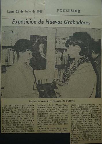 Imagen de Nota del periódico Excélsior sobre exposición del grupo Nuevos Grabadores (atribuido)