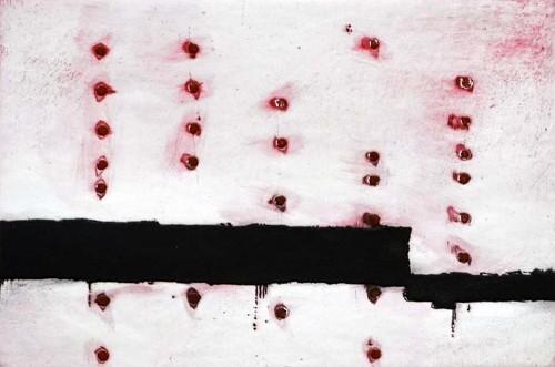Imagen de Las filas del silencio avanzan sobre el paisaje enrojecido (propio)