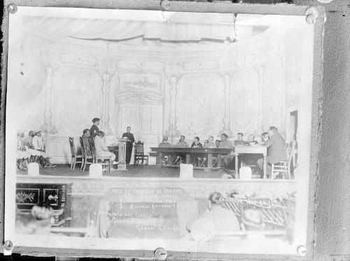Imagen de Felipe Ángeles, Nabor Enciso Arce y Antonio Trillo ante el consejo de guerra