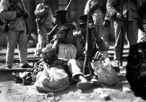 Imagen de Soldado federal con su familia (atribuido)