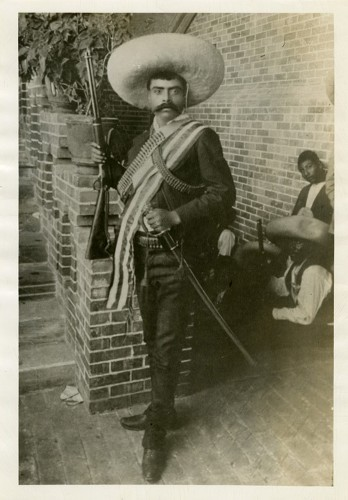 Imagen de Emiliano Zapata en el cuartel general de Cuernavaca, retrato (atribuido)