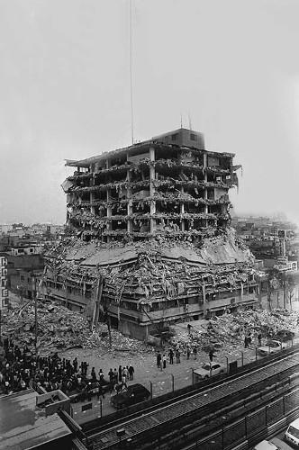 Imagen de Temblor, edificios dañados en el 1er. cuadro, D.D.F. (propio), Temblor, edificios dañados en el primer cuadro, Departamento del Distrito Federal (alternativo)
