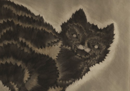 Imagen de Gato con manzanas (propio)