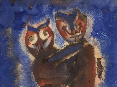 Imagen de Hombres con rostro de gato (atribuido)