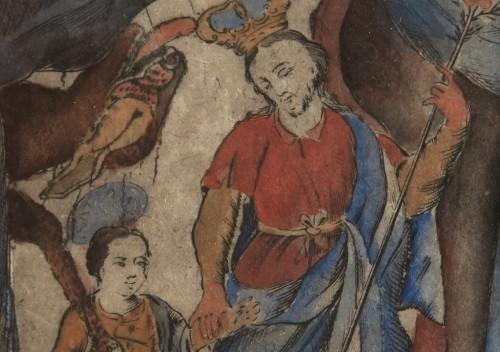 Imagen de San José y el Niño, de la carpeta Nuevo Catecismo para Indios Remisos (propio)