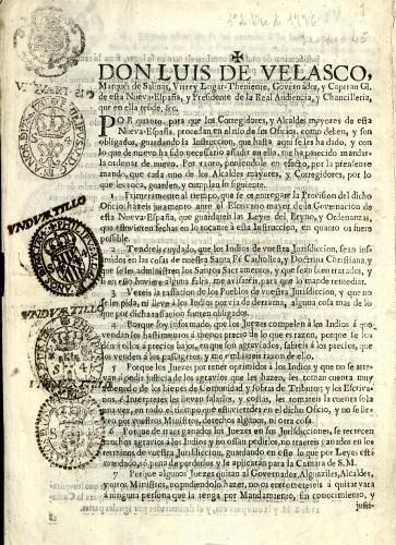 Imagen de Bando dado por el virrey Antonio Sebastián de Toledo Molina y Salazar, marqués de Mancera, el 1o de diciembre de 1666 (propio)