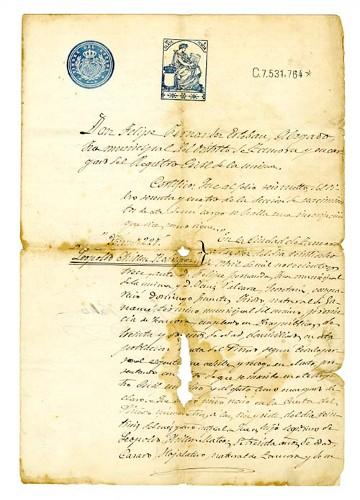 Imagen de Acta de nacimiento de Leopoldo Chillón Rodríguez (atribuido)