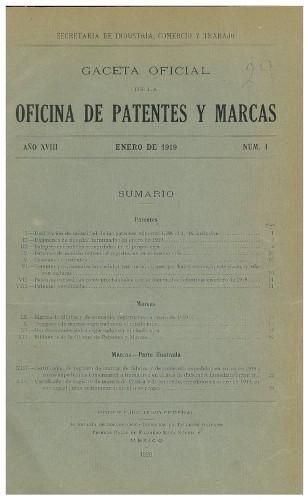 Imagen de Gaceta Oficial  de Patentes y Marcas (atribuido)