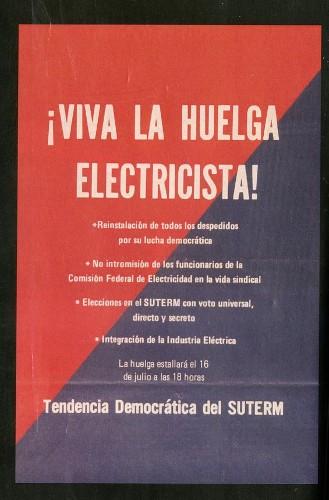 Imagen de ¡Viva la huelga electricista! (atribuido)
