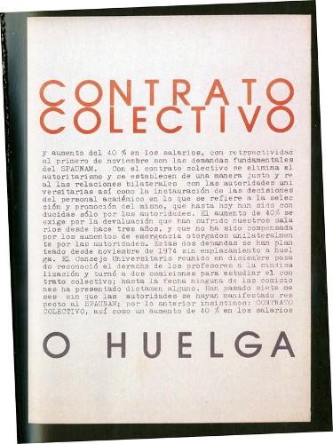 Imagen de Cartel Contrato colectivo o huelga (atribuido)